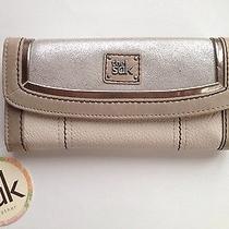 Nwt the Sak Iris Flap Leather Wallet Stone Sparkle Photo