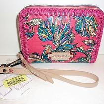 Nwt the Sak Sakroots Artist Circle Hot Pink Phone Zip Around Wristlet Wallet 30 Photo