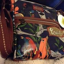 Nwt the Sak Sakroots Tablet Crossbody Bag in River Peace Print Photo