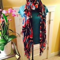 Nwt  Theodora & Callum Wearable Art Tie All Fringe Blanket Scarf  Photo