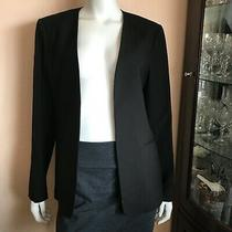 Nwt Theory Apulia Isita Blazer in Black Open Front 100% Viscose Work Size 12 Photo