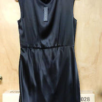 Nwt Theory Arena Black Silk Satin Dress Size 10 320 Photo