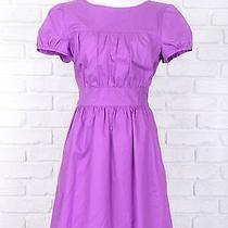 Nwt Theory Dress Purple Cotton Mini Sz 10  Photo