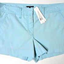 Nwt- Theory Eiryn Cotton Shorts in Sea Grass - Size 8 Photo