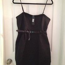 Nwt Theory Lbd Brocade Mini Belted 10 Strapless Black Photo