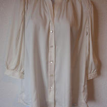 Nwt Theory Luxury Line White Blouse Top Size P Photo