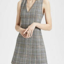 Nwt Theory Shift Dress. Size 0. Plaid With Blue Cream and Orange Photo