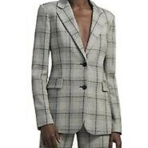 Nwt Theory Single-Breasted Blazer in Pla Photo