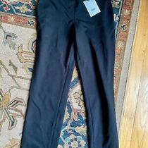 Nwt Theory Thaniel K2 Stretch Cropped Trousers Pants Sz 2 Black 195 Photo