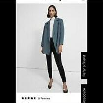 Nwt Theory Winsome Blue Sileena Coat Size L Photo