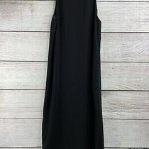 Nwt Theory Womens Black Sleeveless Maxi Dress Side Slits Size 8 (D) Photo