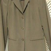 Nwt Theory Womens Gray 3 Button Stretch Wool Blend Career Lined Blazer Jacket M Photo