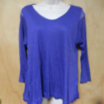 Nwt Theory Yessica Violet Knit Top Medium 190 Photo