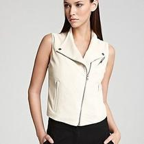 Nwt Theory Zida Ford Cream Fall Leather Vest Womens Small S 900 Photo