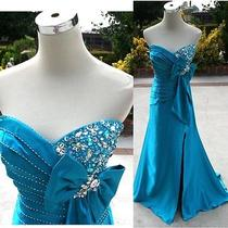 Nwt Tiffany Designs 390 Teal Prom Evening Ball Gown 8 Photo