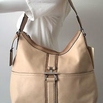 Nwt Tignanello Glove Leather Colorblock Hobo