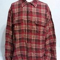 Nwt Timberland Biking Red Plaid Flannel 100% Cotton Size Xl Photo