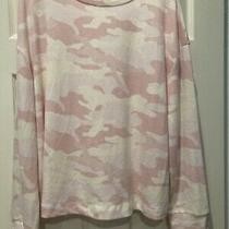 Nwt Time and Tru Pink Blush Camo Lightweight Sweater Size Xl Super Soft Photo