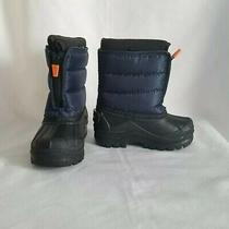 Nwt Toddler Boy Rbx Parker Blue Black Zip Up Boots With Removable Lining Size 8 Photo