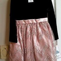 Nwt Toddler Girls Size 4 Rare Editions Black Blush  Holiday Wedding Party Dress Photo