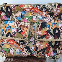 Nwt Tokidoki Lesportsac Tan Playground Campeggio Messenger Diaper Bag Limited  Photo