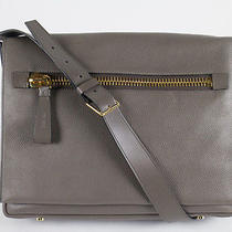 Nwt Tom Ford Medium Slate Gray Leather Messenger Shoulder Bag With Strap Photo
