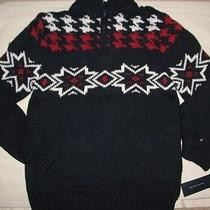 Nwt Tommy Hilfiger Boy Navy Heavy Mock Sweater L 16 18 New Photo