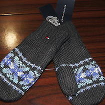 Nwt Tommy Hilfiger Girl Dgrey Snow Winter Fleece Lined Thumb Gloves Nwt  4-6x Photo