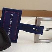 Nwt - Tommy Hilfiger Leather Belt (Size-32 / Dark Brown ) Photo