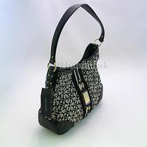 Nwt Tommy Hilfiger Women's Hobo Satchel Shoulder Tote Bag / Black Multi Photo
