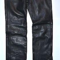 Nwt Tommy Hilfiger Womens Leather Bike Pants Black Sz 0  Photo