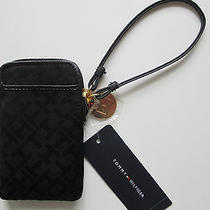 Nwt Tommy Hilifiger Logo Wristlet Iphone/pda/camera Case Wallet Black Last 1 Photo