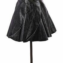 Nwt Topshop Women Black Faux Leather Skirt 4 Photo