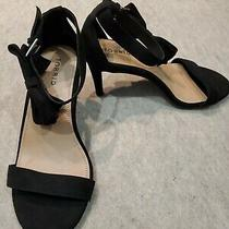 Nwt Torrid 4h Fs Ankle Bow Heels Black Suede Flower Ladies Size 9w (S118) Photo