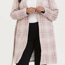 Nwt Torrid Soft Pink Plaid Longline Blazer/coat Size 1 Us 14/16 Photo