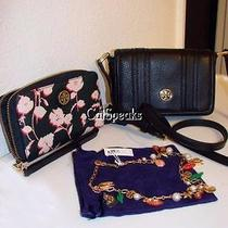 Nwt Tory Burch 3 Pieces Crossbody Bag Necklace Wallet for Odie Bear 710.00 Photo