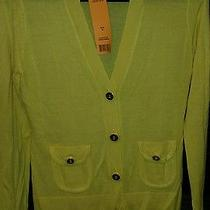 Nwt Tory Burch Auden Cardigan Sweater Size M Color Tuscan Yellow Photo