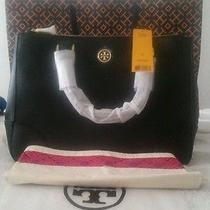 Nwt Tory Burch Black Saffiano Leather Robinson Double-Zip Tote - 575 Photo