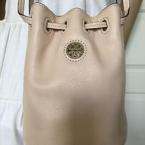 Nwt Tory Burch Blush(light Oak) Leather  Mini Brody Bucket Crossbody Bag Purse  Photo