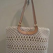 Nwt Tory Burch Dawson Natural Rope/leather Tote Handbag Photo