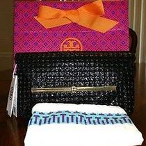 Nwt Tory Burch Ellie Quilted Envelope Clutch With Tory Gift Box Photo