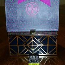 Nwt Tory Burch Fret Clutch With Tory Gift Box Photo