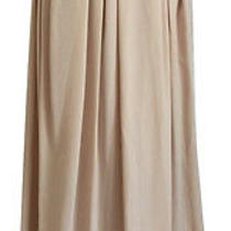 Nwt Tory Burch Gabby Silk Maxi Skirt Blush Pink Champagne Full a Line 8 M Medium Photo