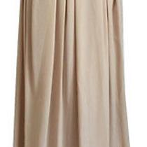 Nwt Tory Burch Gabby Silk Maxi Skirt Blush Pink Champagne Full a Line 8 M Medium Photo