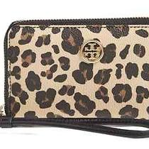 Nwt Tory Burch Kerrington Ocelot Leopard Printed Iphone Case Wallet Clutch 135 Photo