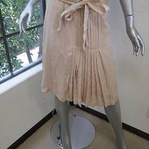 Nwt Tory Burch Light Oak (Blush) Pleated Center Georgina Skirt 4 395 Photo