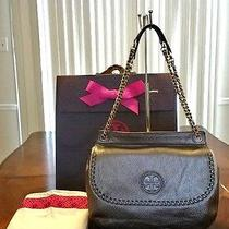 Nwt Tory Burch Marion Saddle Bag With Tory Gift Box Photo