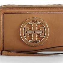 Nwt Tory Burch Robinson Amanda Tan Leather Logo Iphone Case Wallet Clutch 155 Photo