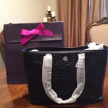 Nwt Tory Burch Robinson Basket Weave Tote With Tory Gift Box Photo
