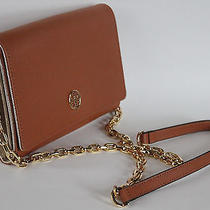 Nwt Tory Burch Robinson Chain Wallet Dust Bag Clutch Luggage Saffiano Leather Photo